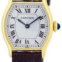 """Cartier """"Tonneau Tank"""" Strapwatch."""