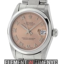 Rolex Datejust Mid-Size 31mm Stainless Steel Salmon Roman Dial...