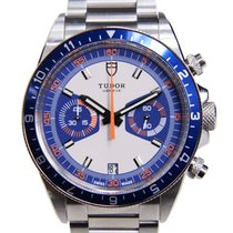 Tudor New  Heritage Chrono Stainless Steel Blue Automatic 70330B