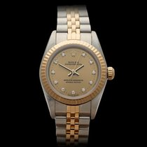 Rolex Oyster Perpetual Original Diamonds Stainless Steel/18k...