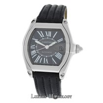 Cartier Mint Mens Unisex Roadster 2510 Stainless Steel Date...
