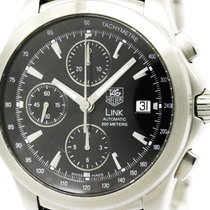 TAG Heuer Polished Tag Heuer Link Chronograph Steel Automatic...