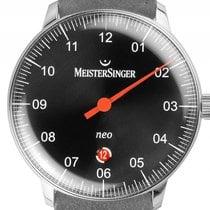 Meistersinger Neo Plus Einzeigeruhr Stahl Automatik Armband...