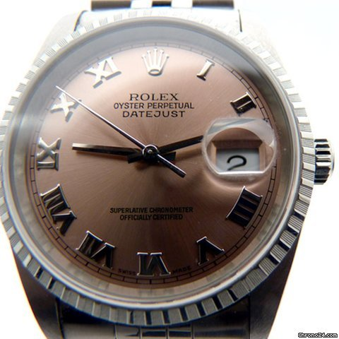 Rolex Datejust Oyster Perpetual on Jubilee Bracelet  &amp;#39;Salmon&amp;#39; Dial