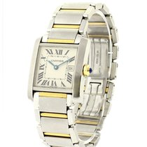 Cartier W51012Q4 2-Tone Tank Francaise - Midsize - On Steel...