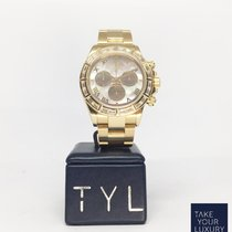 Rolex Daytona Yellow Gold With Diamonds Bezel and MoP Dial