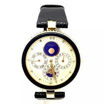 Gérald Genta Gefica 18k Yellow Gold Automatic Mens Watch Black...