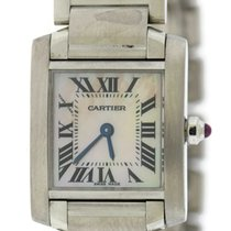 Cartier Tank Francaise Small Mother Of Pearl Dial Stainless Steel