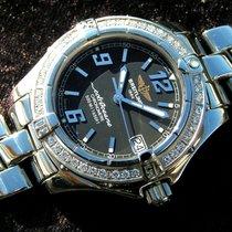 Breitling Colt Oceane Lady A57350 Schwarzes Zb Stahl Diamond...