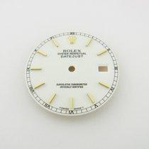 Rolex Datejust Gold Weißes Zifferblatt & Zeiger Dial &...