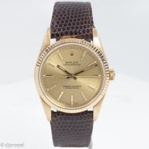 Rolex 18k Yellow Gold Oyster Perpetual On Rolex Band With Papers