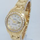 Rolex DateJust Pearlmaster Ladies Solid 18K Gold Diamond Watch