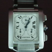 Cartier Tank Francaise Chronoflex Stainless Steel Watch