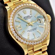 Rolex President 279138 Datejust 28mm 18k Y Gold Factory...