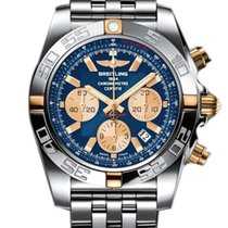 Breitling Chronomat 44 Chronograph Blue Dial Steel IB011012-C7...