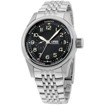 Oris Black Dial Stainless Steel Men's Watch 74576884034mb