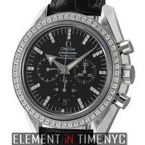 Omega Speedmaster Chronograph Broad Arrow Diamond Bezel Ref....