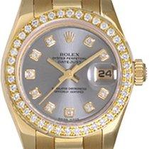 Rolex Ladies President 18K Gold Watch 179178 Gray Dial