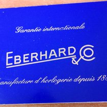 Eberhard & Co. vintage Warranty Certificate Papers blù rare