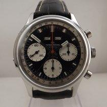 Wakmann triple date chronograph valjoux 730 panda dial