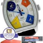 Jacob & Co. Diamond 5 Time Zone White MOP Stainless...