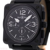 Bell & Ross Chronograph BR01-94 Stainless Steel Black DLC...