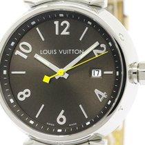 Louis Vuitton Polished Louis Vuitton Tambour Steel Leather...