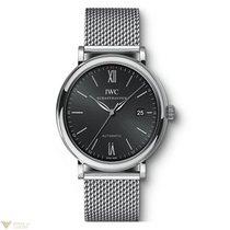 IWC Portofino Automatic Black Dial Mesh steel bracelet Men`s...