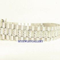 Rolex Aftermarket 18k WG Diamond Bracelet Band for Ladie...