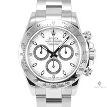 Rolex Daytona Stainless Steel White Dial Tachymeter Engraved...
