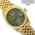 Rolex Datejust 68278 jubilee oro giallo 18KT green diamonds dial