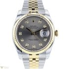 Rolex Oyster Perpetual Datejust 18K Yellow Gold Steel Men`s Watch