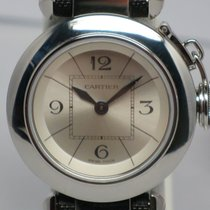 Cartier Ladies Pasha Blue Steel Hands KD4ET33 Band Box/Papers...