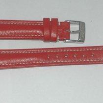 Breitling Leder Armband Band 16mm 16-14 Mit Dornschliesse Neu Rot