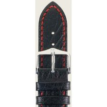 Hirsch Uhrenarmband Leder Jumper schwarz/rot XL 04402251-2-20...