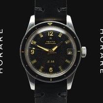 ゼニス (Zenith) 1960s S58 Mark III Bakelite Bezel, Black Sial...