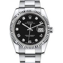 Rolex Oyster Perpetual Date 34 115234-BLKDFO Black Arabic /...