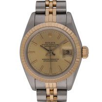 Rolex - Ladies Datejust : 69173 champagne dial on Jubilee...
