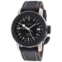 Glycine Airman 18 Black Dial Automatic Men's World Time Watch