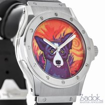Hublot George Rodrigue Blue Dog Ltd. Stainless Steel 41mm...