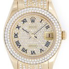 Rolex Pearlmaster/Masterpiece Midsize 18k Yellow Gold &...