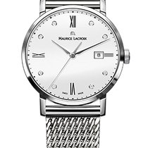 Maurice Lacroix Eliros Date Ladies White Dial Diamond Steel...