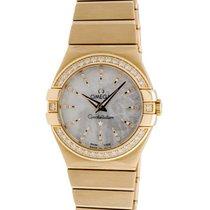 Omega Constellation 18K Y/G Diamond Quartz Ladies Watch –...