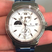 Blancpain Leman Dual Time Stainless Steel/White Dial