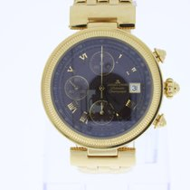 Jacques Lemans Geneve Chronograph 7750 gold plated New Old Stock