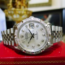 Rolex Oyster Perpetual Datejust Diamonds Gold Stainless Steel...