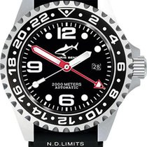 Chris Benz Deep 2000m Automatic GMT CB-2000A-D1-KB Herren...