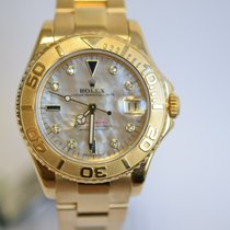 Rolex YACHTMASTER 35MM YELLOW GOLD FACTORY DIAMOND DIAL MINT