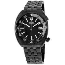 Bulova 98b219 Mens Ba11 Black Steel Bracelet Watch