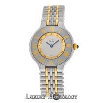 Cartier Genuine Ladies Must 21 de Steel 18K Yellow Gold Quartz...